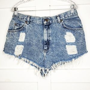 Vintage Lee High Waist Acid Mom Jean Shorts 32